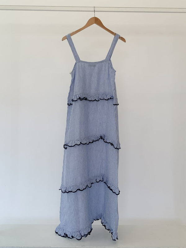 CLEMENTINE MAXI DRESS IN BLUE STRIPE