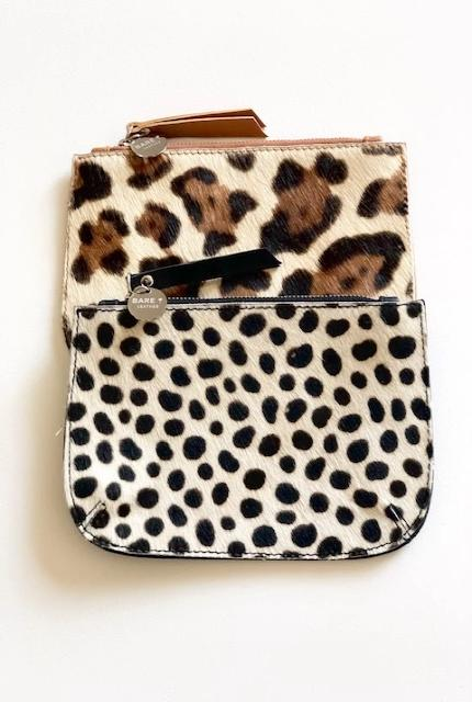MAVIS Coin Purse - Animal Print- Bare Leather