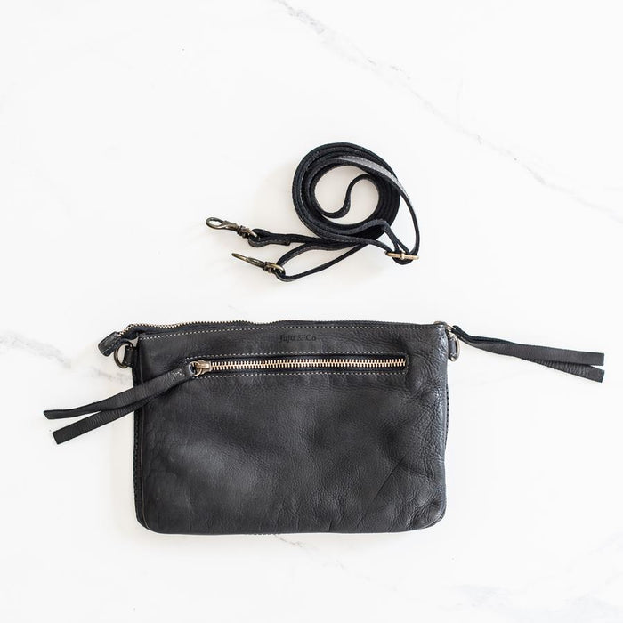 Small Perforated Shoulder Bag - Black