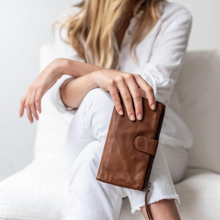 Large Capri Wallet. Available in Natural, Cognac and Black.