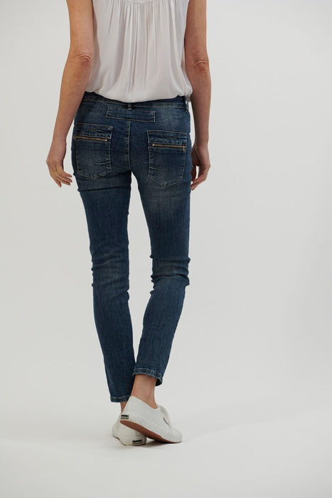 Italian Star Button Jeans - Denim