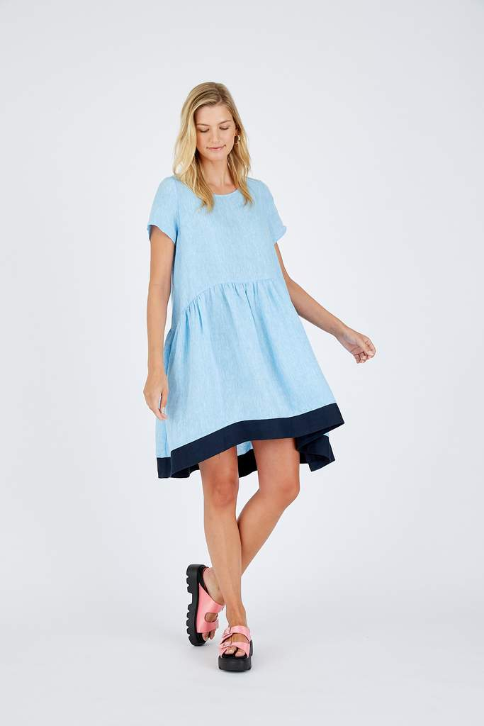 CELESTE DRESS IN AZURE