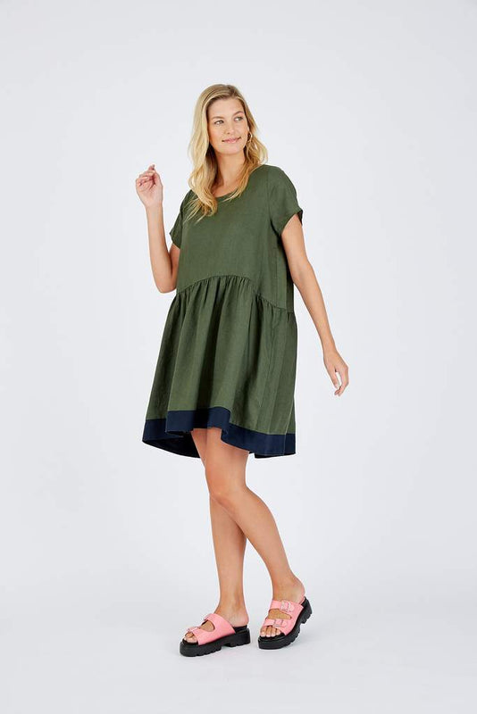 CELESTE DRESS IN KHAKI