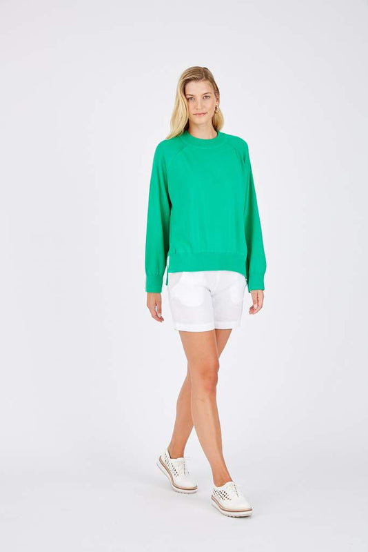 ELENA SWEATER IN EMERALD