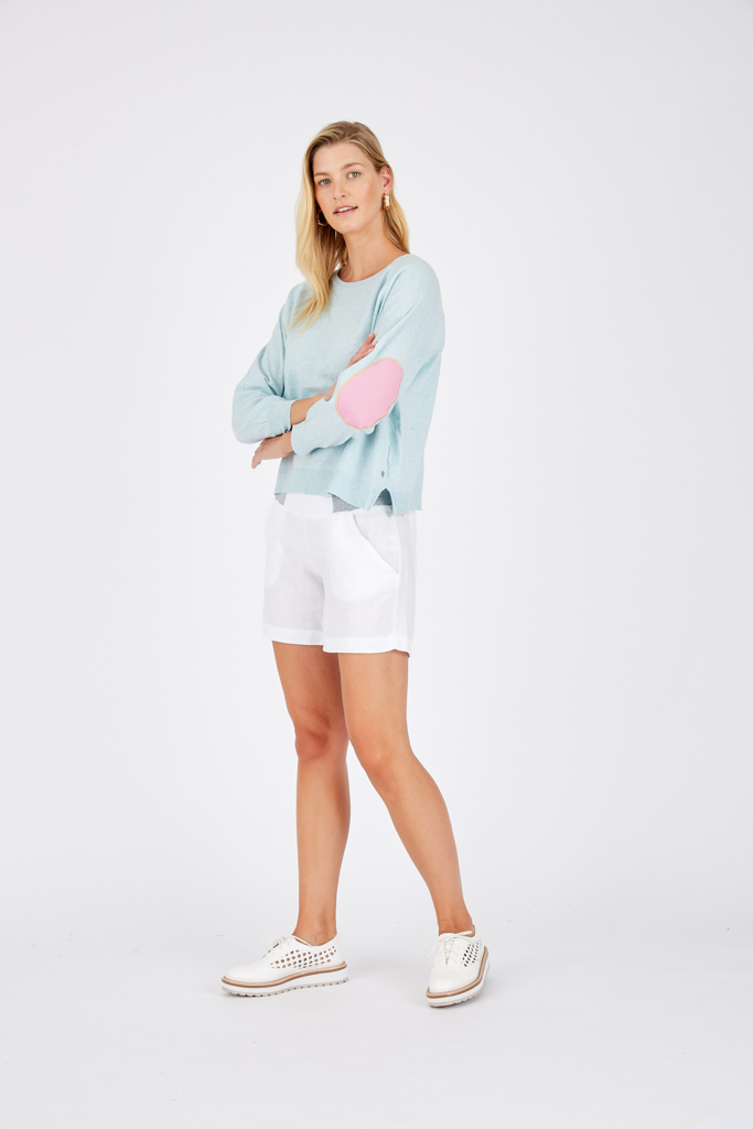 CAMILLA SWEATER IN BABY BLUE