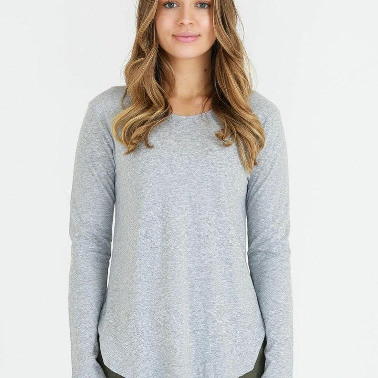 SCARLETT TEE IN GREY MARLE
