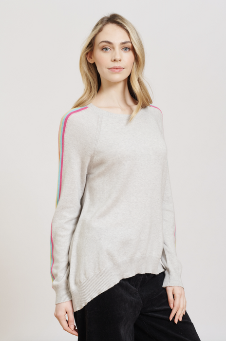 SORBET STRIPE SWEATER IN LATHER