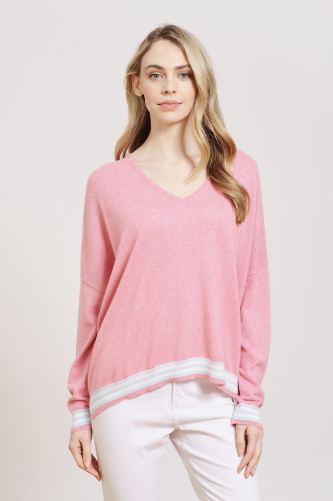POCKET FULL OF LOVE SWEATER IN PINK LADY