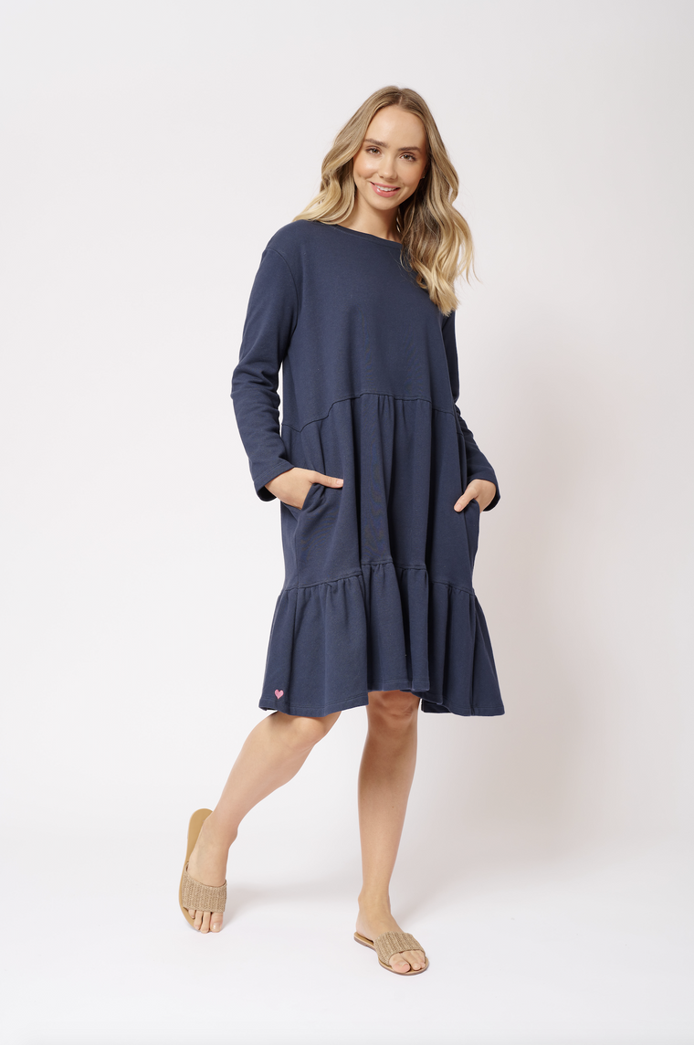 MILLIE COTTON DRESS IN NAUTICAL