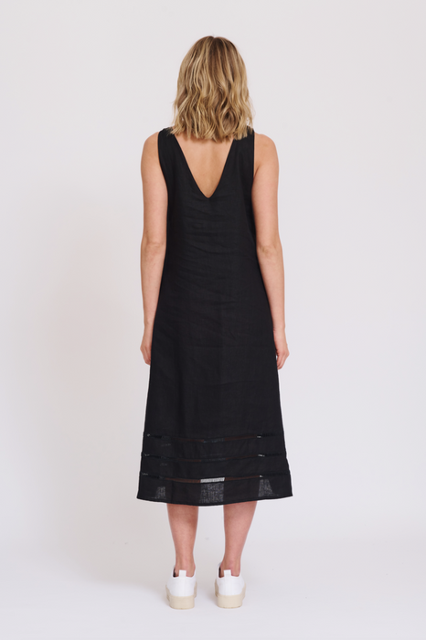ALESSANDRA -MONACO MAXI DRESS IN BLACK- SALE $186.75