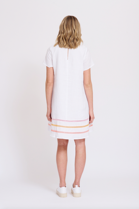 MONACO SWING DRESS IN WHITE - Alessandra