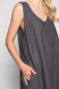 Elkie Jumpsuit in Charcoal