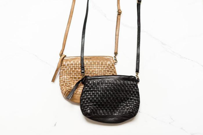 Juju & Co - Woven Pouch Bag- Natural $165