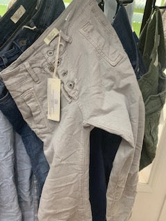 Button Jeans - Dove (Light Grey)