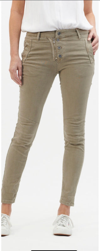Button Jeans - Beige