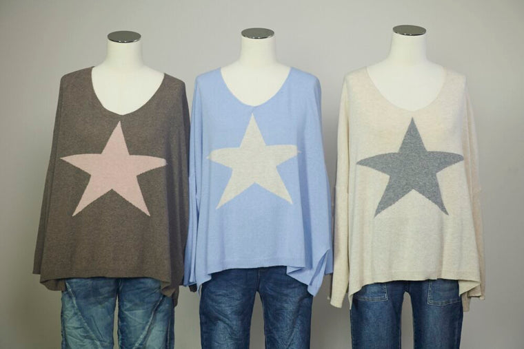 Cashmere Star Front Knit