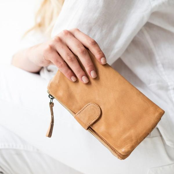 Juju & Co. - Large Capri Wallet. Available in Natural, Cognac and Black. $120