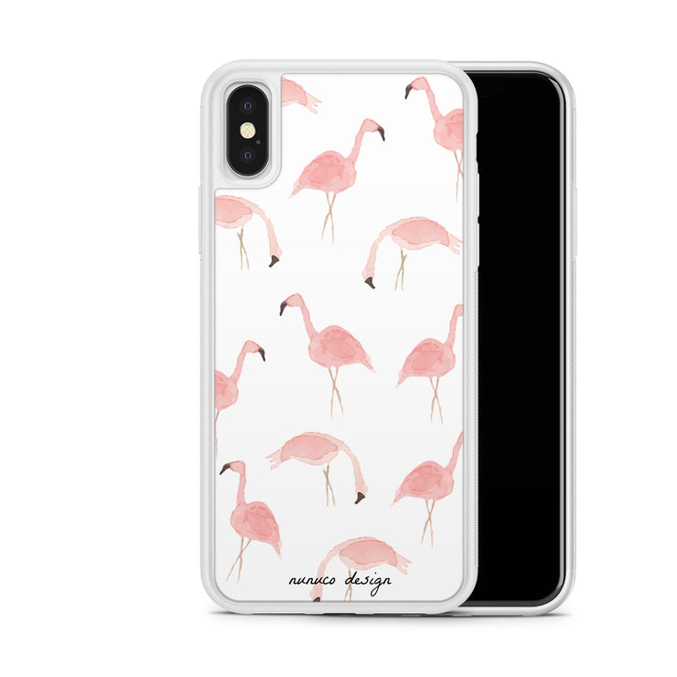 nunuco-design-company - Flamingos iPhone Case - Cases