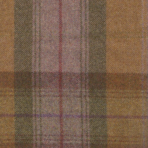 Rhubarb Crumble Wool Plaid - Berkeley Cole Luxury Pet Bed Fabrics