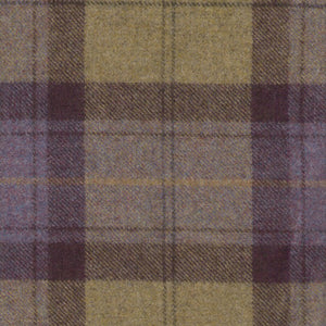 Blackberry Crumble Wool Plaid - Berkeley Cole Luxury Pet Bed Fabrics