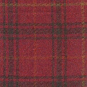 Mexicana Chilli Wool Plaid - Berkeley Cole Luxury Pet Bed Fabrics