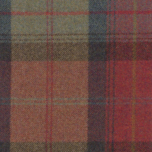 Orchard Fruits Wool Plaid - Berkeley Cole Luxury Pet Bed Fabrics