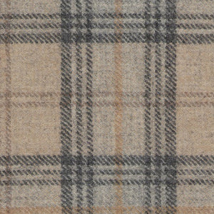 Toffee Truffle Wool Plaid - Berkeley Cole Luxury Pet Bed Fabrics