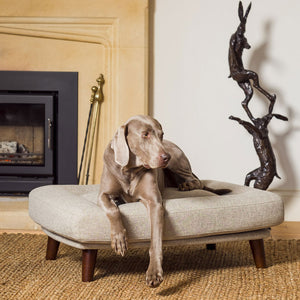 Malvern - Cobble - luxury dog bed from Berkeley Cole -  Medium dog beds in weave fabric