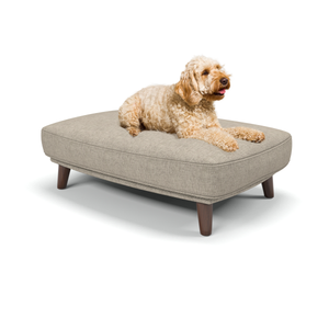 Burford medium luxury dog beds in Erin Hessian- Machine washable dog beds from Berkeley Cole.
