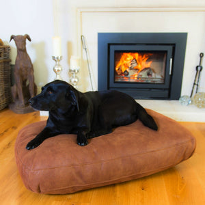 Leather-lux Luxury Dog Bed - Berkeley Cole Luxury Pet Beds - Tobacco