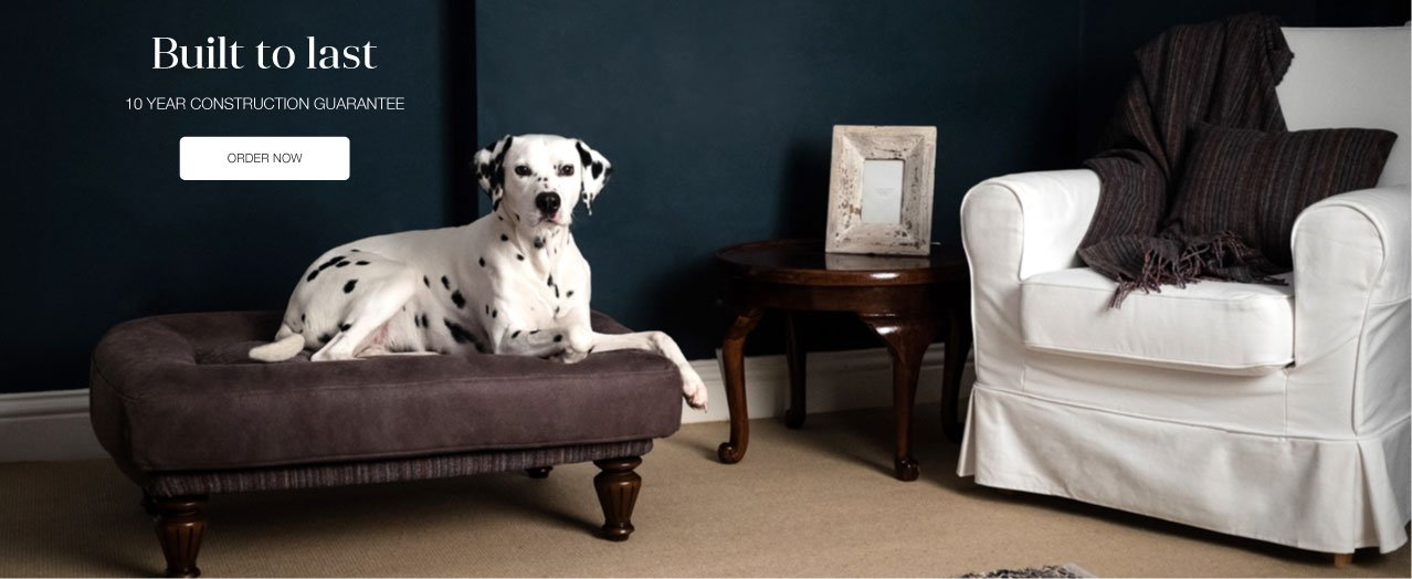 Berkeley Cole Luxury Dog Beds - Fabulous washable dog beds - Raised dog beds - Golden Labrador