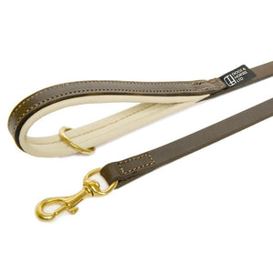 D&H Classic Padded Leather Dog Lead
