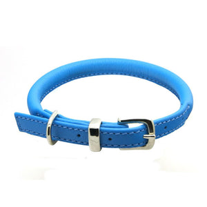 D&H Contemporary Rolled Leather Dog Collar