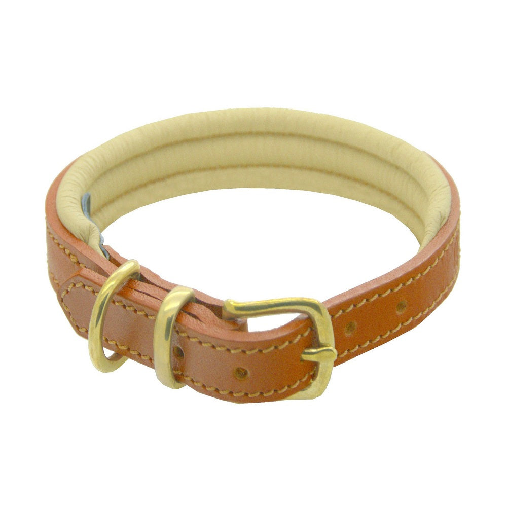 D&H Classic Padded Leather Dog Collar