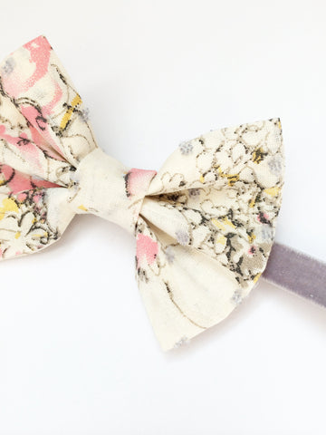 Floral + Swiss Dot Bow