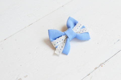 Cornflower Lenny Lace Bow