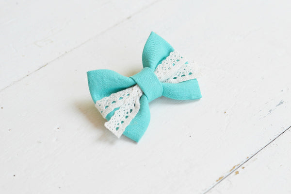 Turquoise Lenny Lace Bow