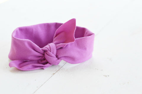 Berry Pink Knotted Headband