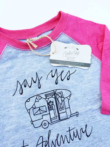 Toddler Camper Baseball Tee