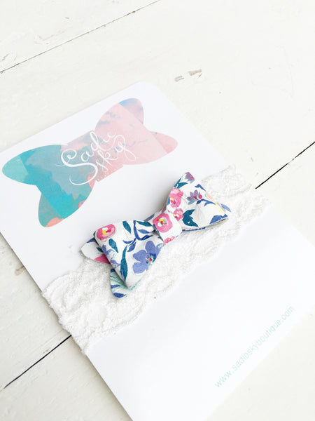 Spring Floral Petite Leather Bow: Limited Edition for Cuteheads