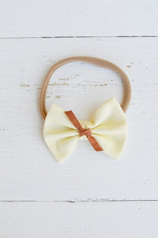 Buttercream Sawyer Bow