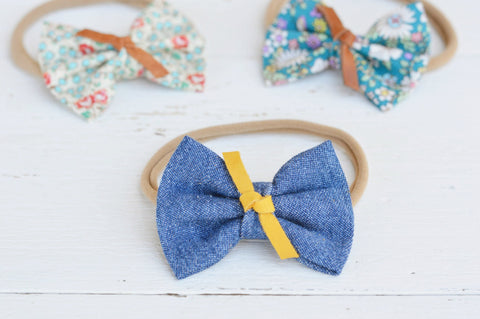 Denim Sawyer Bow