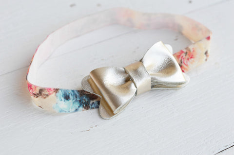 Heirloom Platinum Leather Bow