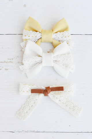 Lenny Lace Simple Bow