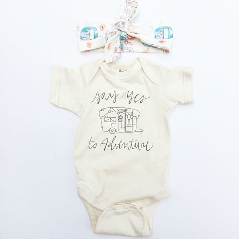 Organic Cotton Infant Camper Onesie