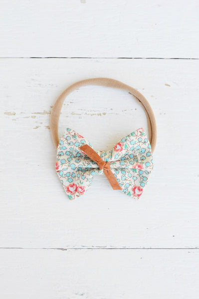 Vintage Floral Sawyer Bow
