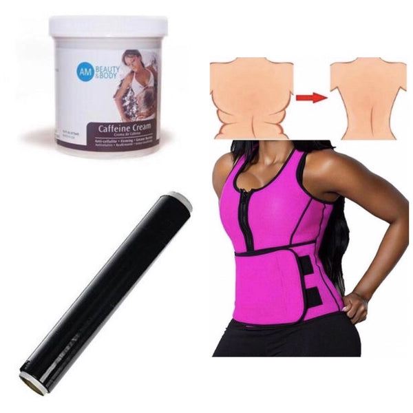 Sauna Vest +Caffeine Cream+Osmotic Wrap Bundle