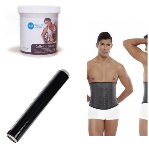 Men Waist Trainer +Caffeine Cream+Osmotic Wrap