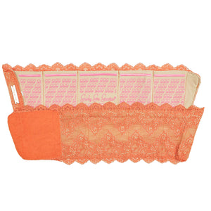 Orange GirlyGoGarter by Andy Paige - garter wallet for wedding, prom, travel, passport, phone