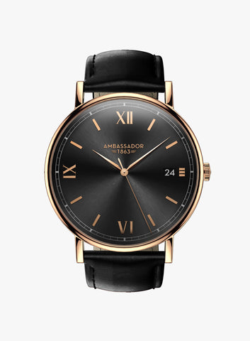Heritage 1863 – Rose Gold & Black
